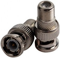 Coaxial F Female-to-BNC Compression Connector (2-Pack)